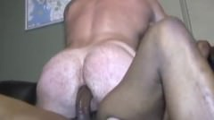 Super Hot Muscle Daddy Gets Pounded By Big Black Monster Cock