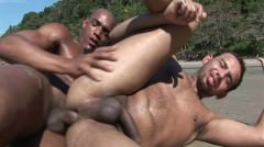 Latino Gay Couple Sex Outdoors