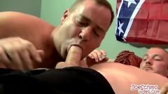 After A Blowjob Kuntry Gets To Hammer A Tight Dudes Asshole
