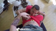 Menpov - Insatiable Bottom Brenner Bolter Fucked By Trenton Ducati