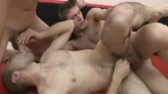Hot Gay Threesome Messy Cumswapping