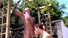 Two Horny Studs Steamy Sex Under The Hot Sun
