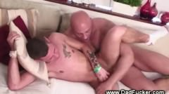 Muscular Dilf Drills Tattooed Studs Ass