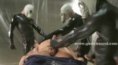 Gay Soldiers Hidden Under Leather Suits
