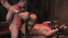 Bdsm Gay In Metal Restraints Anal Fucked