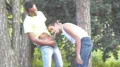 Outdoors Interracial Fun - Julia Reaves