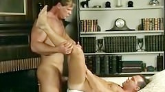 Beefy Blond Cop Fucks His Partner