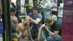 Latin Hunk Gets Double Penetrated At Folsom Gulch Porn Store.