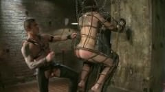 Great Looking Gay Boy In Leather Gets Fucked In His Sweet Mouth A