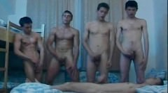 Lucky Twink Gets Nailed And Jizzed By Four Gays