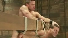 Great Looking Tied Gay Man Gets Clipped Spanked And Tortured In H
