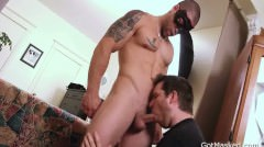 Muscled And Tattooed Hunk Gets Sucked 3 Part4