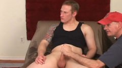 Str8 Red Head, Handsome Manly Man Type Blowjob.