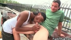 Black Guy Sucks Some Nice White Dick Part2