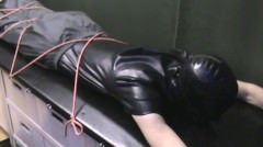 Rubber Slave Spanked On Rack (abo747)