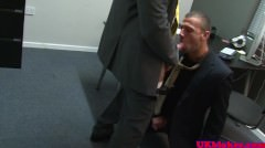 British Muscular Stud Sucks Off His Boss