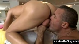 Horny Gay Bear Hardcore Fucks Straight Client Up The Ass