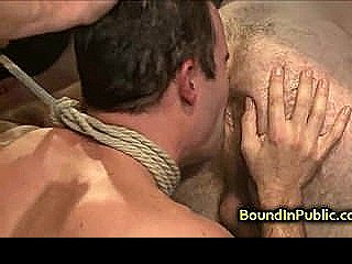 Bound Gay Anal Gangbanged In Suspension
