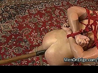 Rope Bondage Gay Ass Fucks By Dildo