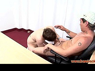 Latin Bareback Lovers Blows Colleague