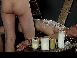 Splashed With Wax And Cum