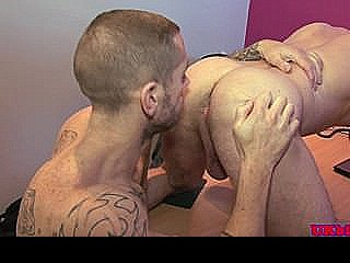 Muscular British Jock Eager Suck And Rim