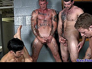 Group Of Hunks Hosting An Orgy