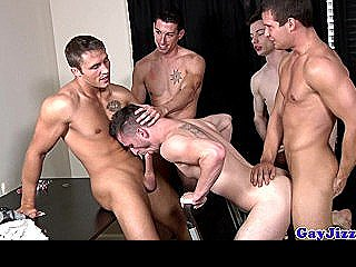 Travis Irons Sucking A Few Cocks At Orgy