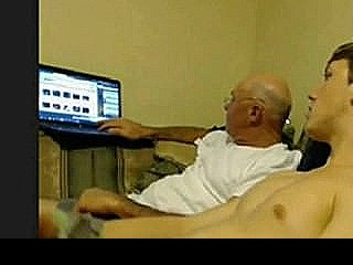 Straight Guy Stroking With Older Guy