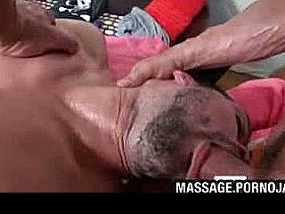 Sexy Guy Gets Mouth Fucked At Massage