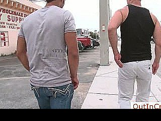 Hunk Getting Paid For Public Gay Sex By Outincrowd