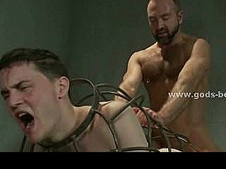 Dirty Cop Transforms Prisoner In Bondage Sex Slave Fucking Him In Extreme Wild Sex