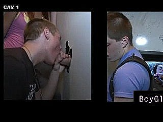 Gay Sucks Straight Guy In Gloryhole After The Girl Sneaks Out