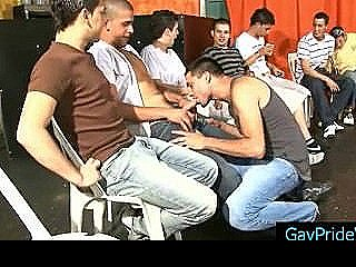 15 Gay Guys In Line For Some Cock Sucking By Gaypridevault