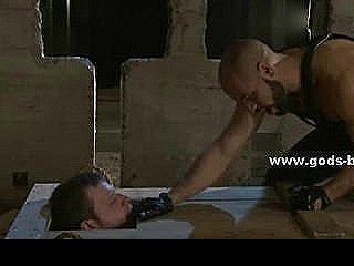 Muscles And Anger Lying Behind Leather Costume In Pervert Bdsm Master That Lives His Fetish Dreams