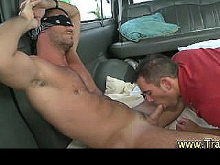 Muscley Straight Hunk Wears Blindfold