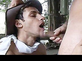 Cowboys Outdoor Anal Plowing