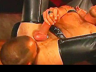 Muscled Daddies In Hot Leather Filthy Cum Eating Encounter
