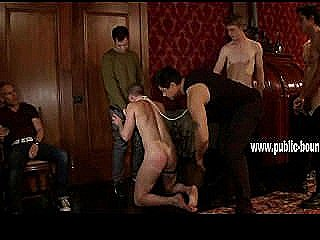 Submissive And Gay Man Gets On His Hands And Knees And Grinds His Face Against A Stranger`s Dick