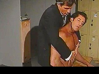 Vintage Hunk Charmers In Uniform Pounding Some Ass In Lockerroom