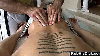 Gay Bear Rubs Straight Guy In During Massage