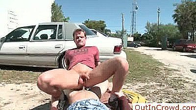 Dude Getting His Ass Fucked In Public By Outincrowd
