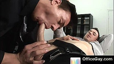 Gay Blowjob At Office Results In Anal Sex