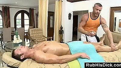 Massage At Home With Gay Massage Guy Craving For Straight Meat