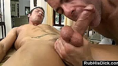 Gay Bear Fucked In Ass By Male Client After Massage