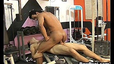 Latino Gay Wild Hardcore Sex In The Gym
