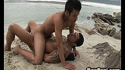Two Muscle Studs Engage In Outdoor Anal Action