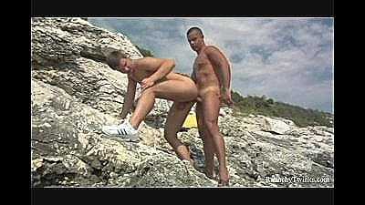 Outdoor Twink Loving On The Rocks