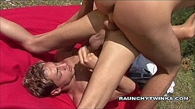 Two Horny Men Outdoors Fucking
