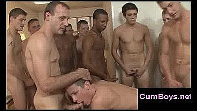 Messy Facial Bukkake And Bareback Orgy